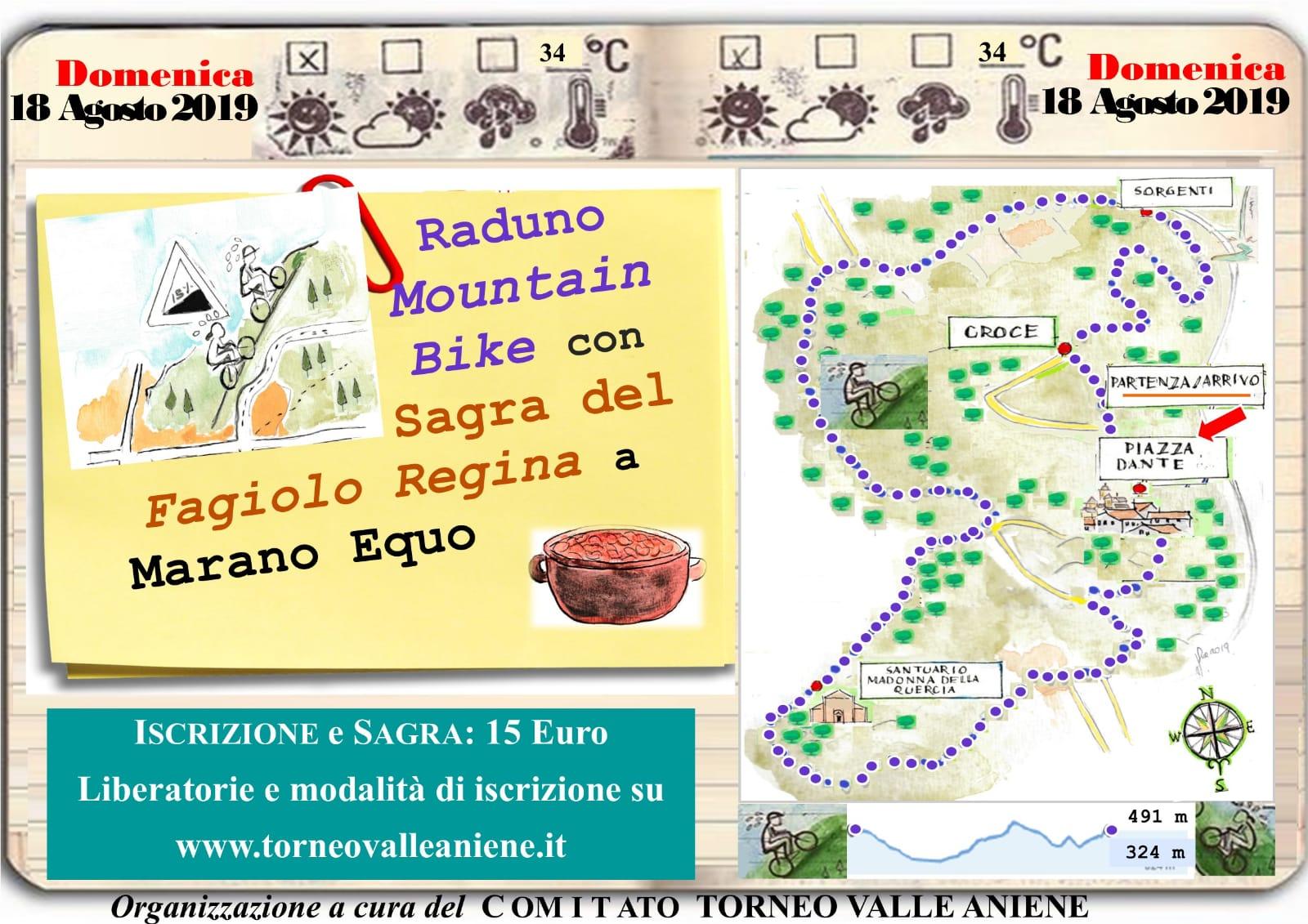 Domenica 18 Agosto Raduno Mountain Bike e Sagra del Fagiolo Regina a Marano Equo