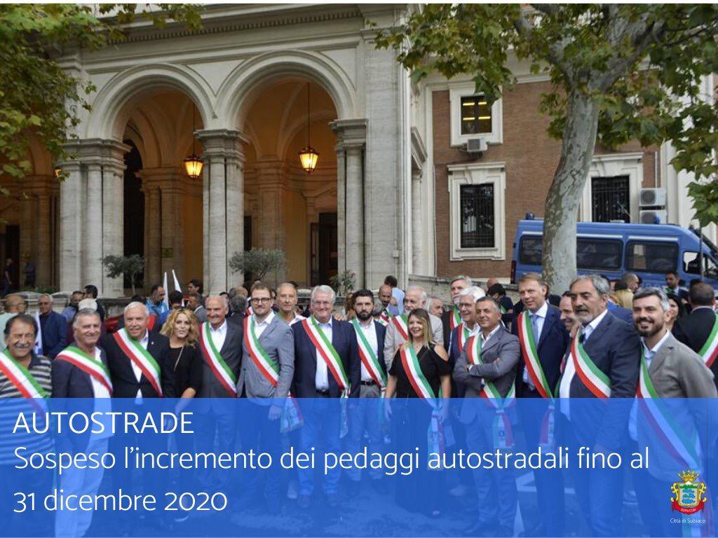 Caro Pedaggi: comunicato dei Sindaci e Amministratori di Lazio e Abruzzo