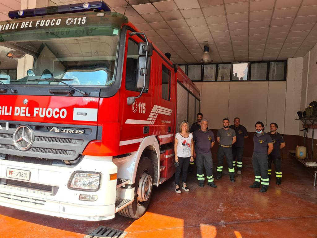 Valle dell'Aniene: visita del Commissario Gina Panci ai Vigili del Fuoco