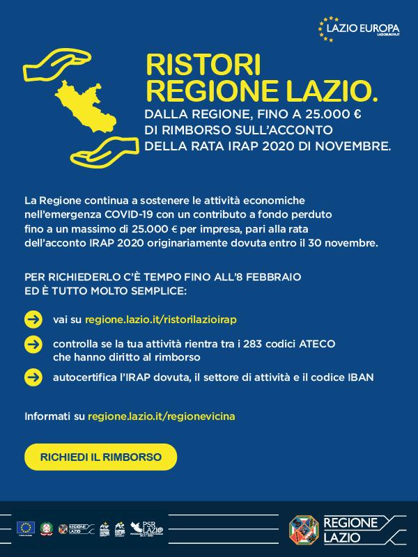 Ristori Regione Lazio