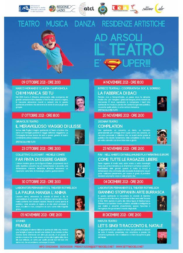 Arsoli: al via la Stagione 2021-2022 del Teatro Comunale La Fenice