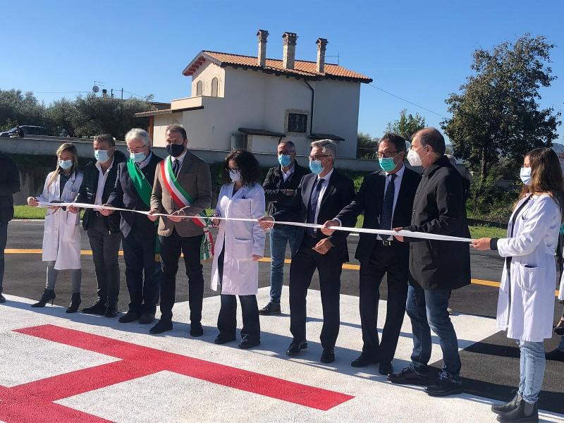 Subiaco: inaugurata ufficialmente l'Elisuperficie dell'Ospedale e attivati due posti monitorati di terapia Sub-Intensiva